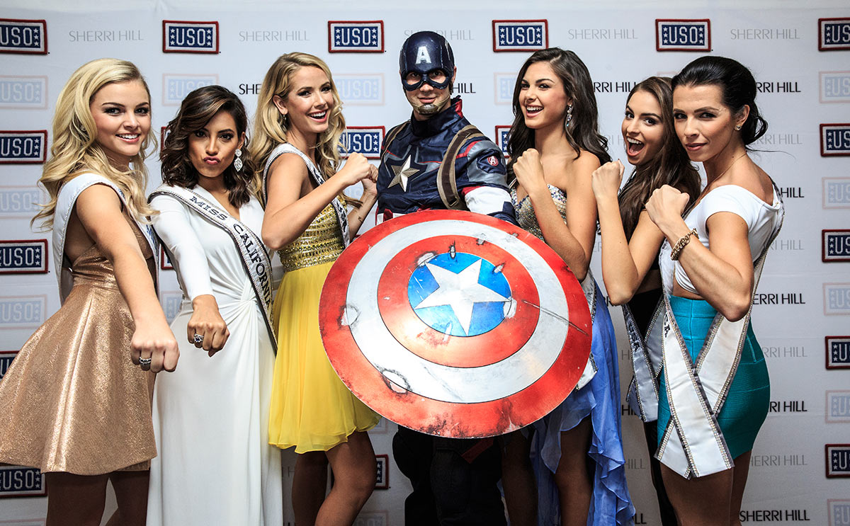 Las Vegas Event Photographer: Miss USA And Miss Teen Usa Contestants With Captain America 2015