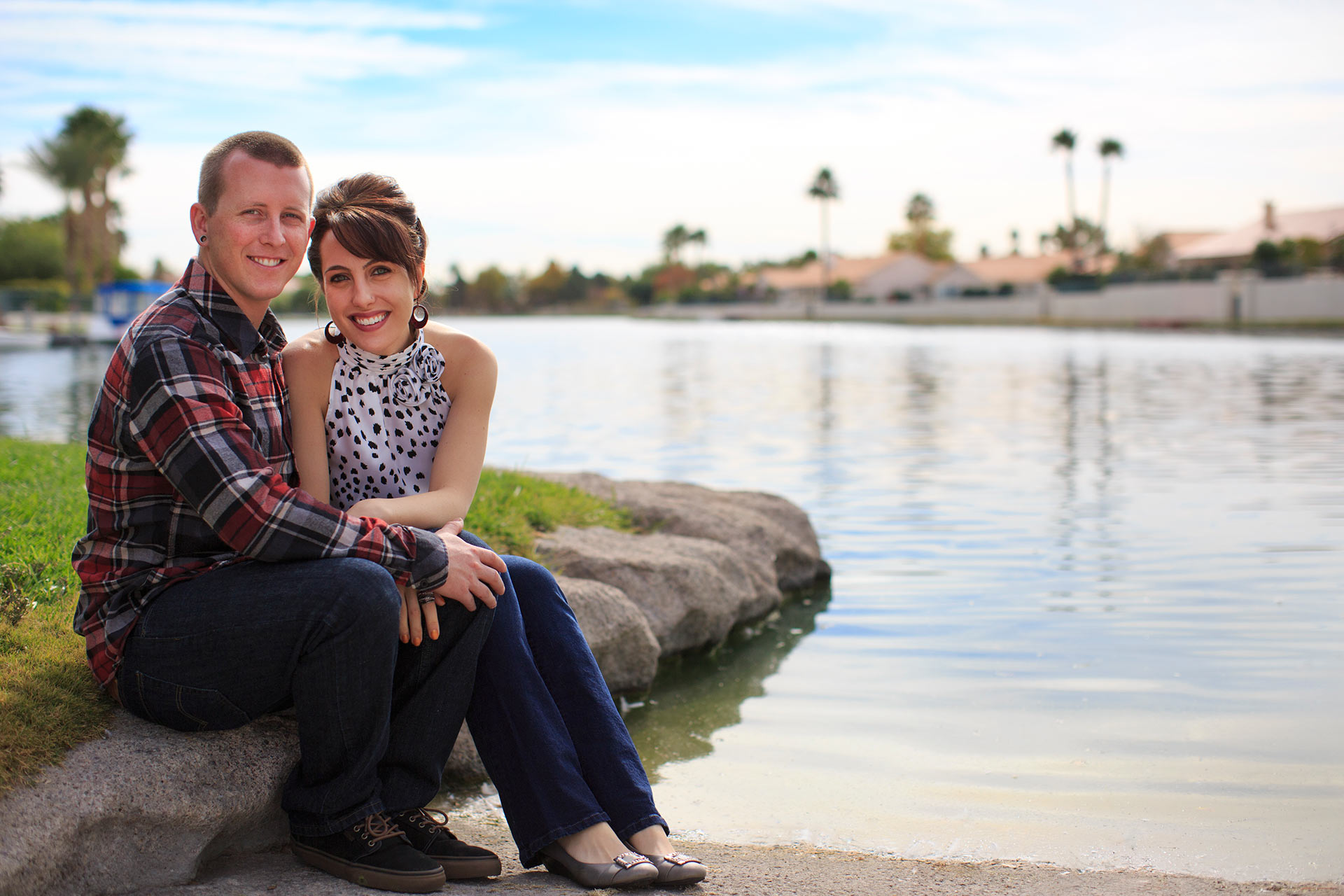 Las Vegas Engagement Photographer At Desert Shores