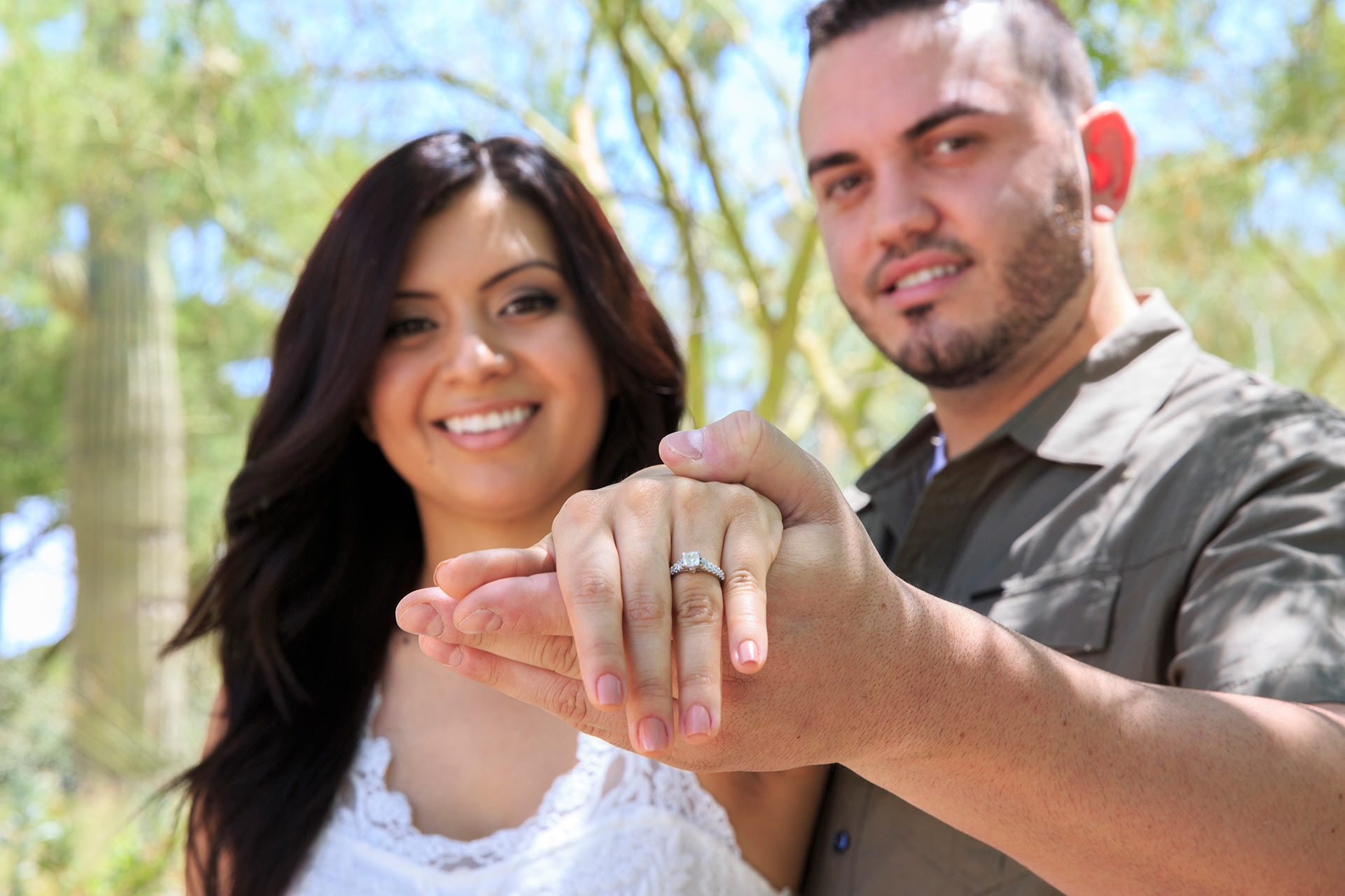 Las Vegas Engagement Photographer At Spring Preserve