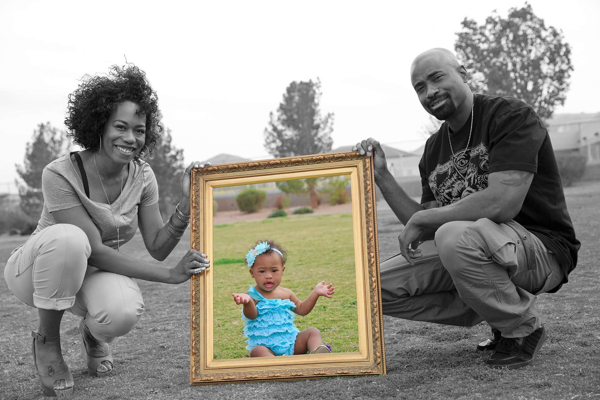 Las Vegas Family Photographers At Inzalaco Park