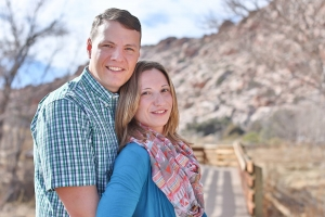 Las Vegas Engagement Photos at Red Rock Canyon